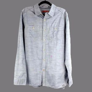 The North Face Men's Blue Button-Down Shirt Large